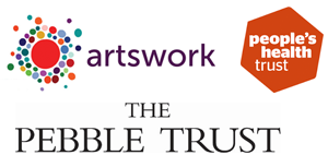 artswork, people's health trust and pebble trust logos